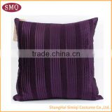 2014 china wholesale purpel pleated cushion cover