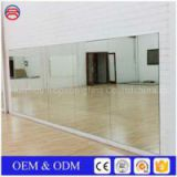 2mm 3mm 4mm 5mm Large Frameless Rectangle Silver Mirrors For Dance Studio
