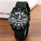 Rubber Strap Japan Quartz Chronograph Army Watch