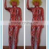wholesale adult and kids lycra spandex red snake zentai suit