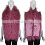 YR329 New Arrival Long Tibetan Lamb Fur Scarf Mongolian Lamb Fur Shawl
