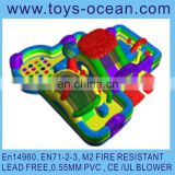 inflatable rainbow bouncer playground /inflatable indoor playground/inflatable playground balloon