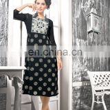 Fancy Black Color Faux Georgette Kurti