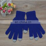 Wholeasle cheap autumn acrylic custom touch screen gloves