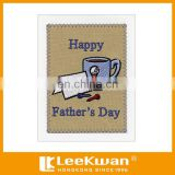 Lovely Design Embroidery Greeting Cards for Father's Day