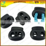two-hole black plastic cordlock