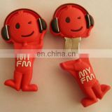 Funny music doll pvc usb flash drive