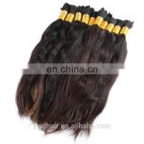10-40in Grade 8A 100% Human Hair Bulk Full Cuticle intact Brazilian Malaysia Peruvian Indian Russian Natural Ponytail Bulk Hair