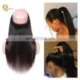 Cuticle Aligned Raw Virign Hair Temple Indian Hair 360 Lace Frontal Closure