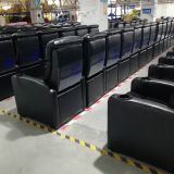 High end black leather public imax hall cinema seating