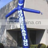 custom advertising slogan single leg inflatable air dancer