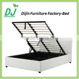 Modern Bedroom Furniture Storage Lift Up Folding Bed Frame Leather Bed