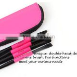 Custom logo 4pcs Double side concealer brush and makeup eyeshadow brush