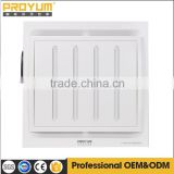 ultra-silence Ceiling mounted exhaust fan of whole plastic panel with Archimedes spiral duct for bathroom and kitchen