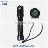 Police Security Flashlight with Compass