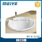 BP-K-1126 Modern Bathroom Design, Quality Above Counter Mounting Art Basin, Ceramic Hand Wash Sink Bash Bowl, Vanity Top