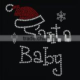 Snowflake design Iron On Santa baby letter Rhinestone Transfer Designs For Clothing