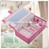 Pink unique crocodile leather jewelry box lock hardware wholesale