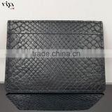2016 Mens Genuine Leather Slim Credit Card Holder Front Pocket Wallet Real Python Wallet