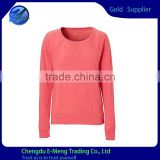 New Style Wholesale O-neck Long SLeeve Plain T shirt for Woman