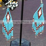 Fashion Bead Drop Earrings Hand Woven Braided Boho Beach Accessories