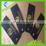 Black card folded card with Gold hot stamping,garment paper tag,jewelry hang tag                                                                                                         Supplier's Choice