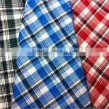 check men's polyester italian egyptian cotton shirting fabric