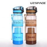 silicone heat-resistant plastic water bottle factory price with tea infuser FDA standard