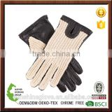 best for women classic driving crochet leather gloves