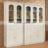 wood antique white bookcases