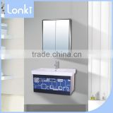 Hot selling!!! french bathroom plastic vanity cabinet,wall mount cabinet made in China