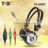 2014 new MP3 stereo headphones with mic and volume control for Tablet PC Smart cell phone China factory