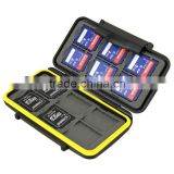 JJC MC-SD12 Rugged water-resistant Plastic Memory Card Holder storage Case (12x SD/SDHC Cards)