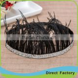 Hot sale Bohemia feather suede braided headband/hairband