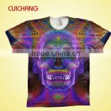 Custom printed 100% polyester wholesale blank t-shirts, new pattern t-shirts,bulk blank t-shirts