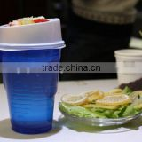Personalized plastic bucket cup for popcorn and fried chicken with lid