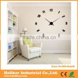 decorative large 3D sticker EVA wall clock