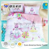 2016 100% Cotton Pink Character Kids Baby Bedding Sets