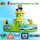 backyard kids climbing wall inflatable, new design jungle inflatable climbing wall for sale