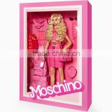 OEM paper type barbie doll box toys packaging box