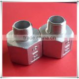 Casting 304/316 stainless steel pipe fitting reducing socket nipple