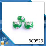 High quality lampwork glass beads wholesale european custom engraved murano glass bead for jewelry making BC0523