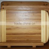 healthy and natural bamboo chopping cutting board/ organic cutlery tray