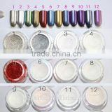 shenzhen daua Hot new 12 colors nail mirror powder,fashion new nail pigment magic powder mirror effect