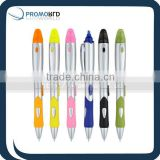 promotional multi color ballpoints pen with highlighter