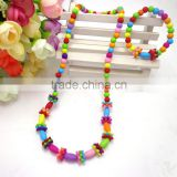 kid necklace set fashion jewelry children's multi bead hanmade necklace bracelet set