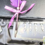 Customized Logo Dip Feather Pen Set With Ink Bottle