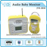Fashionable Wireless LCD Audio Baby Monitor,2-Way Voice Calls and Temperature Functions Baby Monitor JVE-2010