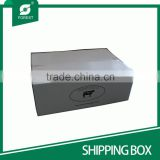 B FLUTE ECO-FRIENDLY CORRUGATED SHIPPING CARTON BOXES FOR MOVING MEATS WITH CUSTOMIZED PRINT