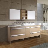 "36"" china affordable Sliver Mirror custom wood modern luxury hotel knock down bathroom vanity cabinet"